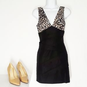 LOVE Culture Leopard and Black Dress Size Small
